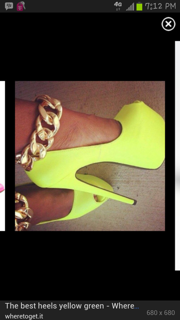 shoes lime