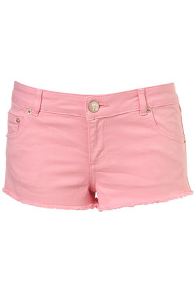 Pink Cut Off Hotpants - Denim Shorts - Shorts - Clothing - Topshop