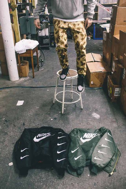 ... nike military green jacket military greeen styled trending MEMEs Kanye West Memes Tumblr