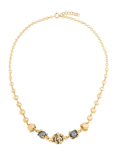 Kasun London women necklace gold silver grey metallic jewels