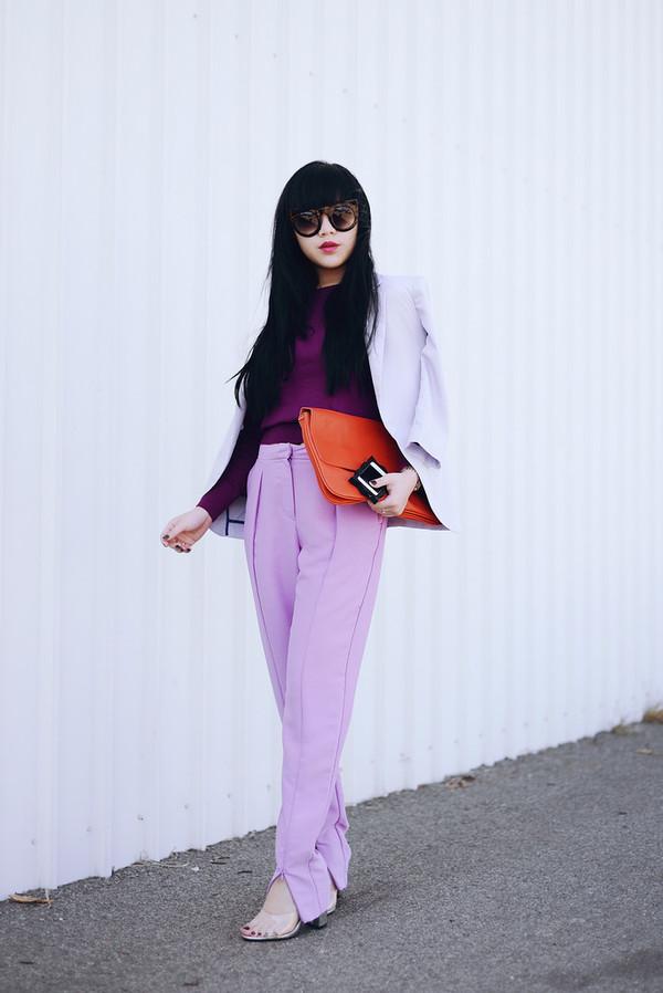 pale division sunglasses jacket sweater pants bag shoes