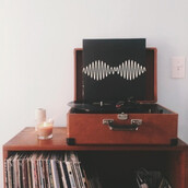 music is the answer,old school,record player,earphones