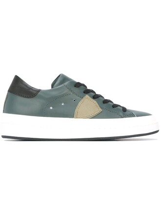 women sneakers leather cotton green shoes