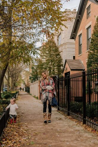 kelly in the city - a preppy chicago life style and fashion blog blogger shoes jeans sweater bag leggings top dress duck boots fall outfits