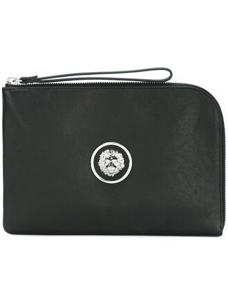lion clutch black bag