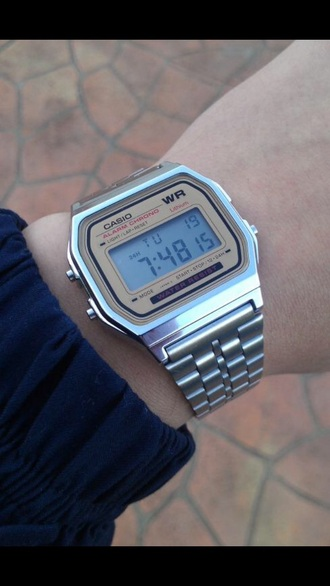 jewels casio watch metallic