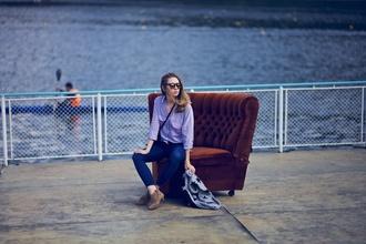 vasilieva blogger jeans cardigan blue shirt stars