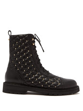 leather ankle boots,quilted,ankle boots,leather,black,shoes