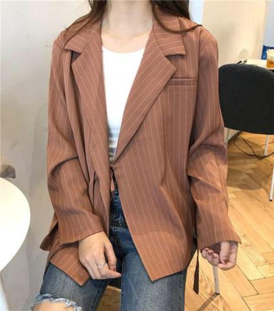 jacket stripes blazer light pink