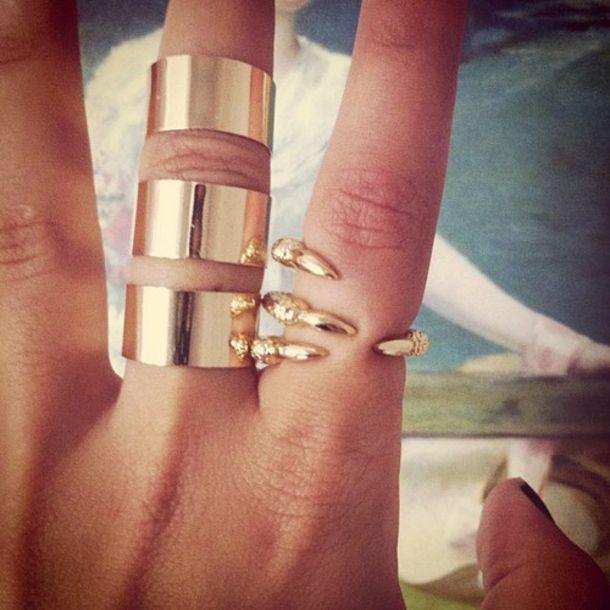 ring claw gold jewelry fantasy halloween accessory gold ring statement ring jewels gold ring asos claw ear cuff