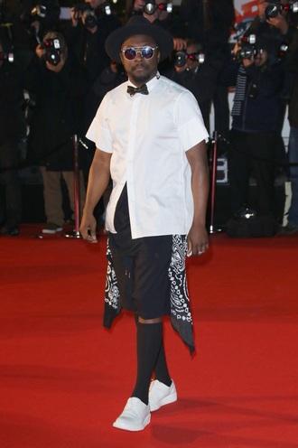hat william shorts shoes shirt menswear mens shoes urban menswear red carpet
