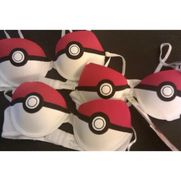 pokemon underwear pokemon, tshirt, need, harry styles, michael clifford,  cool geek dork pokemon bra pokeballs pokeball bra bra red bra white bra pokemons pokeball lingerie bralette