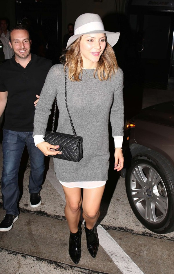 sweater dress sweater fall outfits katharine mcphee bag
