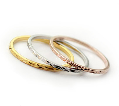 3 tiny stacking rings by missricochet on etsy
