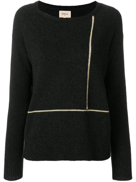 Bellerose - stripe detail jumper - women - Cotton/Polyamide/Wool/Alpaca - 0, Blue, Cotton/Polyamide/Wool/Alpaca