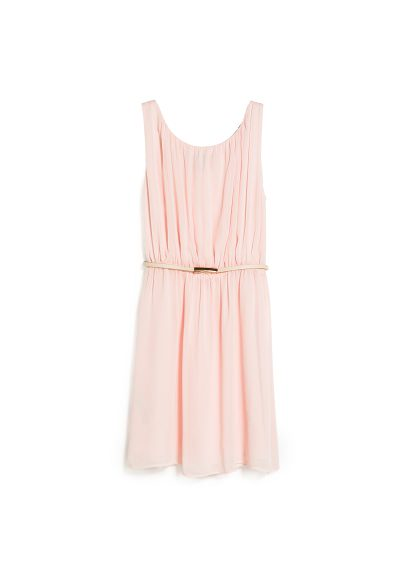pleated flowy dress