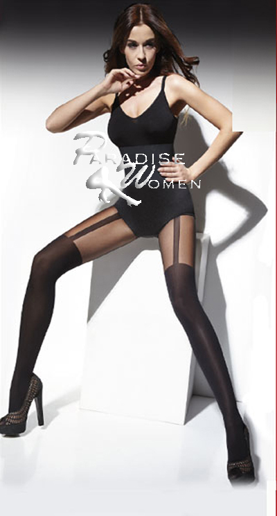 "Mock Suspender Stockings Tights 40 20 Denier ""Made in Italy"" Top Quality 