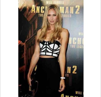 dress bandage dress bandage two-piece black and white crop tops geometric skirt pencil skirt