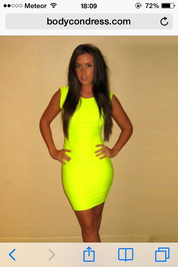 dress neon bodycon