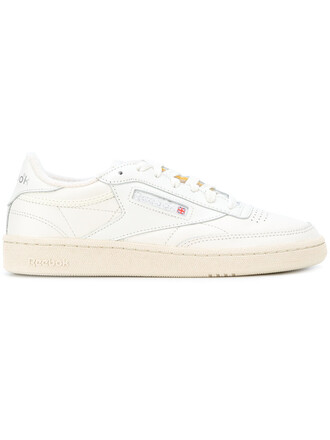 vintage women sneakers leather nude cotton shoes