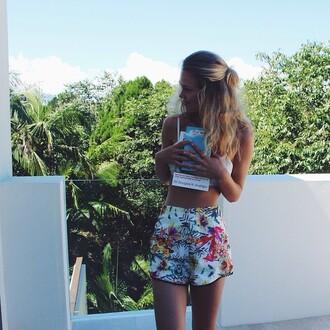 shorts short flowy flower flawless beautiful summer sexy