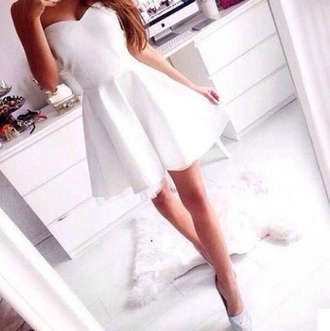 dress patineuse romantic white dress wedding clothes