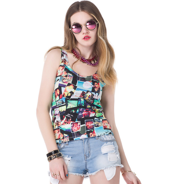 top vest shorts cute casual swag summer outfits streetstyle