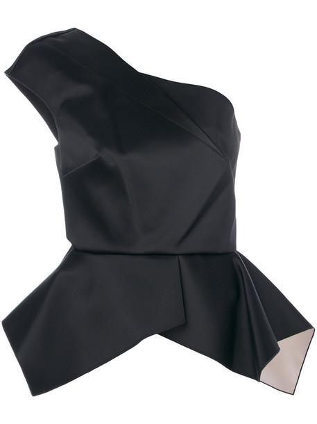Roland Mouret top peplum top women spandex black