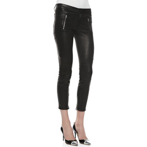 J Brand L1340 Julia cropped mid-rise leather pants - Polyvore