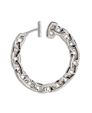 Chunky link necklace silver