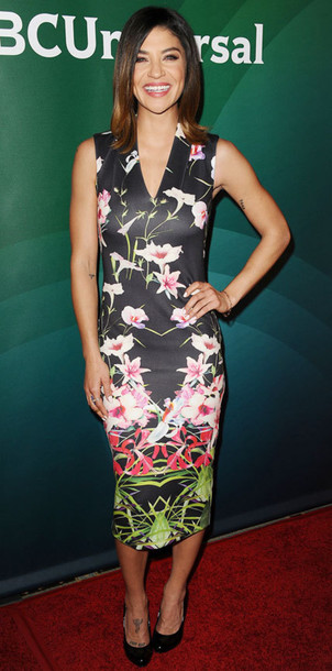bodycon dress jessica szohr floral dress