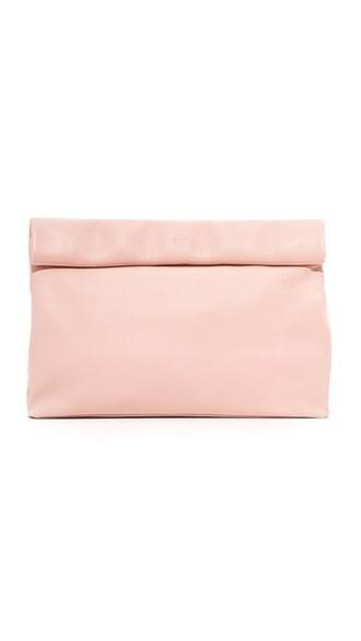pale clutch pink bag