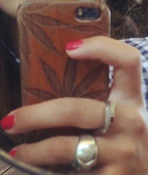 green leaf jewels coque iphone bois marrons marijuana cannabis smoke phone case
