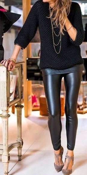 jewels knitwear t-shirt cardigan sweater knitted sweater necklace high heels platform shoes classy style hot leather pants leather black black pants winter sweater pullover knitted cardigan diamonds denim skinny pants hot pants streetwear streetstyle black friday cyber monday Red Lime Sunday