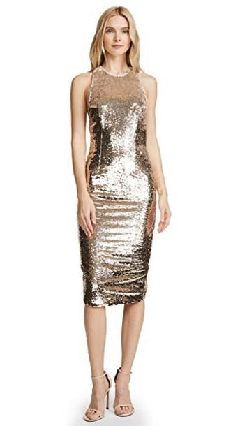Misha Collection dress light gold