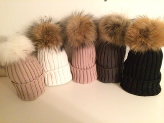 hat designer real fur raccoon fur beanie fur beanie fur beanie hat fur bobble hat fur pom pom pom pom beanies different shades cozy and warm fur x faux fur fall tings darlynplease winter nights