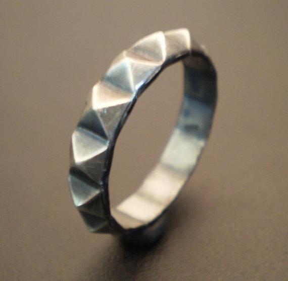 Sterling silver stud ring par franticjewelry sur etsy