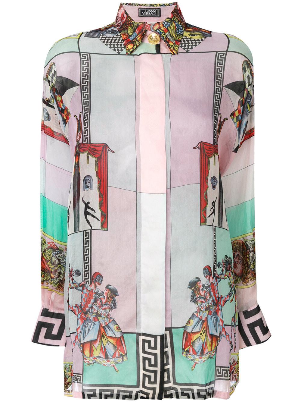 e415c29132f Versace Vintage Carnevale printed shirt - Multicolour