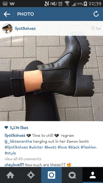 shoes, boots, black boots, ankle boots