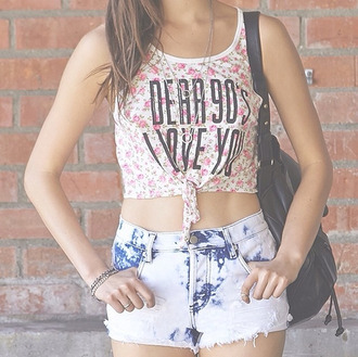 blouse floral tank top black 90s style