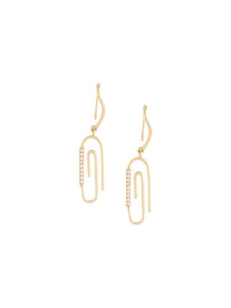 AURELIE BIDERMANN women earrings gold grey metallic jewels