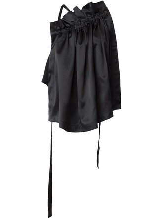 tank top top pleated black