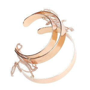Amazon.com: Three Circle Ring Chain Wide Band Cuff Arm Bracelet Copper: Jewelry