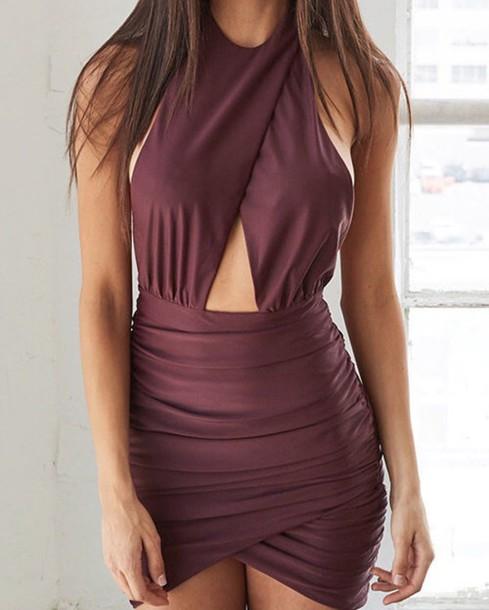 dress burgundy mini burgundy dress
