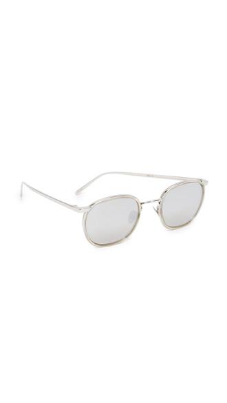 sunglasses mirrored sunglasses gold white