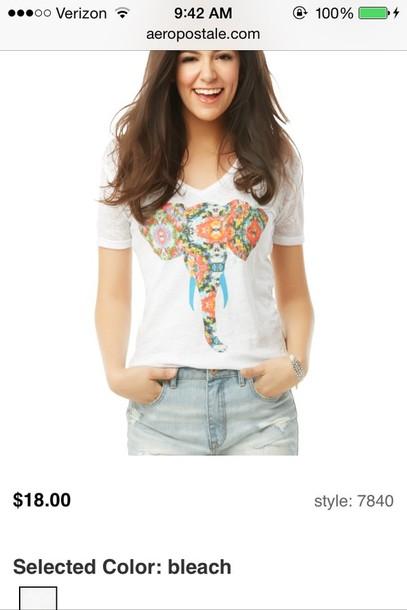 shirt elephant artsy