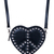 ROMWE | Studded Anti-war Sign Heart-shaped Bag, The Latest Street Fashion