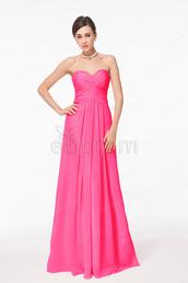 dress,hot pink,prom dress,long prom dress,bridesmaid,chiffon prom dresses,evening dress,formal dress,wedding guest dresses,dress for wedding,sweetheart