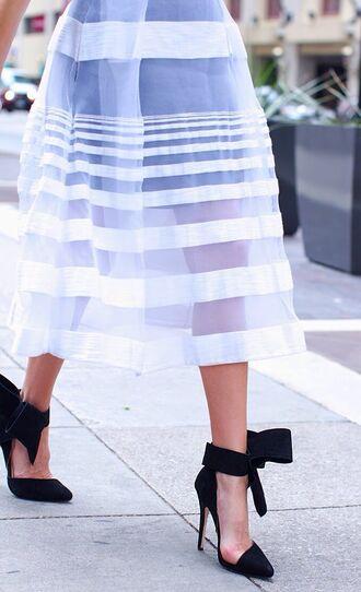 shoes black high heels ankle strap heels high heels killer heels summer skirt tulle skirt skirt
