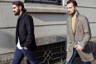 mens coat streetstyle fashion week 2015